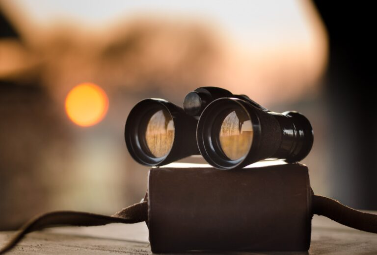 A pair of binoculars to depict a look at what's to come in the future.